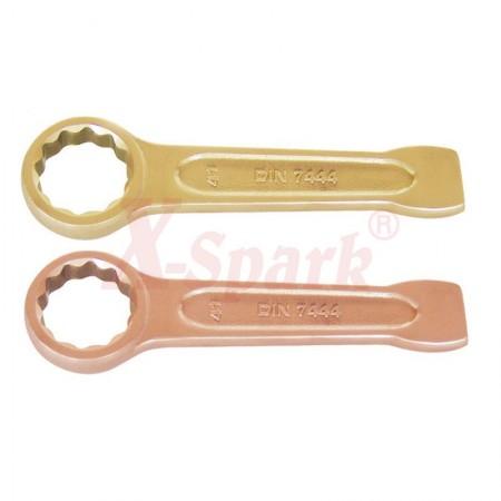 Ударные ключи искробезопасные накидные из сплава Меди и Бронзы (BeCu)  до 150 мм.