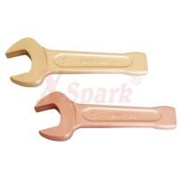 Ударные ключи искробезопасные рожковые из сплава Меди и Бронзы (BeCu)  до 150 мм.
